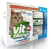 Виталвейс-био №100 с ламинарией(рыбки) для котов