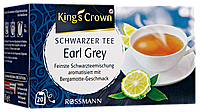 King's Crown Schwarzer Tee Earl Grey - чёрный чай  Earl Grey 35 Г, 20 ПАКЕТИКОВ