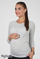 Облегающий лонгслив для беременных Ulla, серо-белая полоска