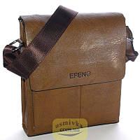 Сумка мужская Effeng наплечная коричневая 54175