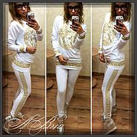 """Спортивный женский костюм-батал """"Versace"""""""