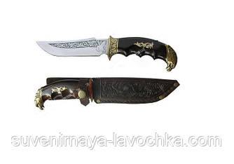 Охотничий нож Спутник Орёл. Качественный нескладной нож для охоты.