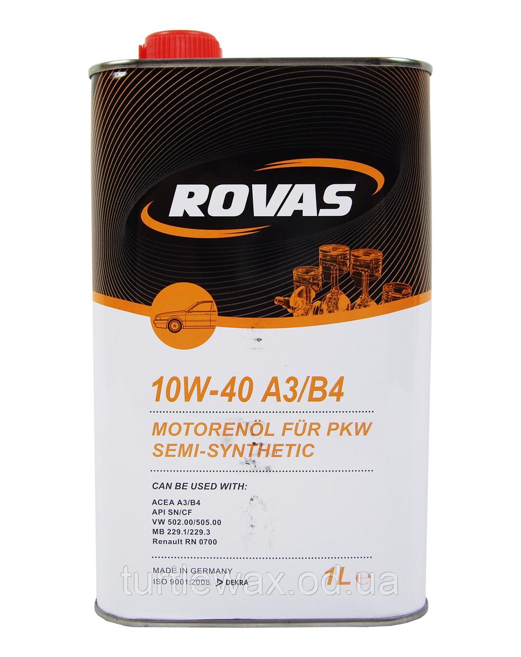 Масло моторное ROVAS Semi-Synthetic 10W-40 1л