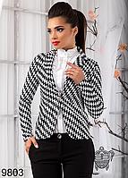 Стильный женский пиджак Шахматка