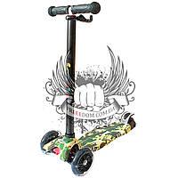 Самокат детский 3-х колёсный Scooter - Millitary