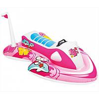 Плотик 57522 (6шт) водных мотоциклов, Hello Kitty, С Ручкой, 117-77См, от3-Х Лет, Рем Комп, в Кор-Ке, 21-19-7С