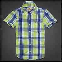 Стильная рубашка Hollister с ярким принтом в клетку, размер L