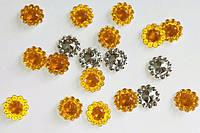 Камешки-цветочки №2 желто-оранжевые