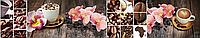 """Скинали с фотопечатью """"Орхидеи"""" заказать в Одессе"""