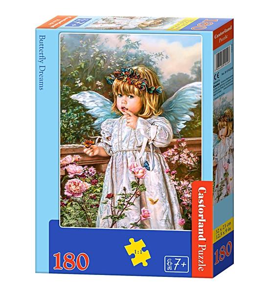 Пазлы 180 элементов Castorland 018208 Ангел с бабочкой