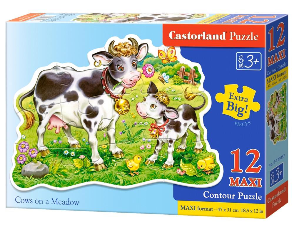 Пазлы 12 элементов Castorland Maxi 120062 Коровки на лугу