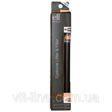 Двусторонний карандаш для бровей от E.L.F. Cosmetics , цвет слоновая кость / средний, фото 2