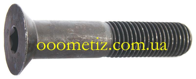 Гвинт М6х90 10.9 сталевий без покриття DIN 7991 з потайною головкою і внутрішнім шестигранником