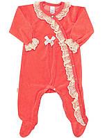 Велюровый нарядный комбинезон Smil р-ры 56,62