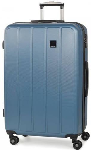 Запоминающийся пластиковый 4-колесный чемодан 96 л. Members Nexa (L), 922597 голубой