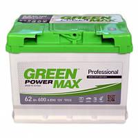 Автомобильный аккумулятор Green Power Max 6СТ-62 AзE