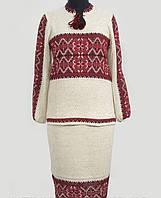 Стильный вышитый костюм для женщин из льна