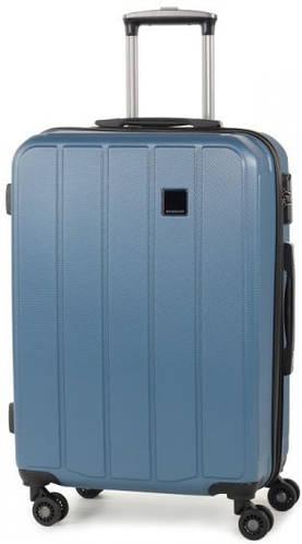 Стильный пластиковый 4-колесный чемодан 62 л. Members Nexa (M), 922596 голубой