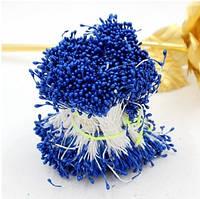 Тычинки на нитке синие