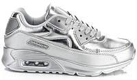 Женские серебристые кроссовки  размеры 36,38-40