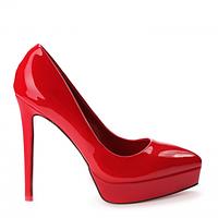 Туфли женские, лакированные на шпильке