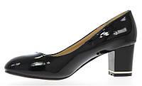 Туфли лодочки, лакированные на удобном каблуке  размеры 38-40