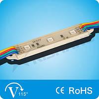 Светодиодный модуль RGB, 0,72W SMD 5050 LED (3 LED) IP65