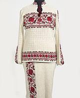 Колоритный вышитый костюм из льна для женщин