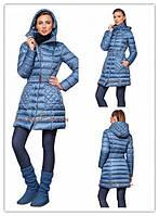 Пальто женское ,Плащевка простеганная на синтепоне 200й плотности.,Цвета черный и голубой ал № 08251