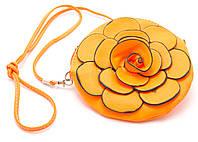 Ярко оранжевая неоновая детская сумочка ЦВЕТОК art. Б/Н