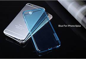 "TPU чехол Nillkin Nature Series для Apple iPhone 6/6s plus (5.5"") Голубой (прозрачный)"