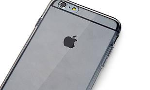 "TPU чехол ROCK Slim Jacket для Apple iPhone 6/6s plus (5.5"") Черный / Transparent black"