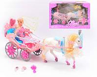 Открытая карета с куклой