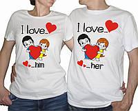 """Парні футболки """"Love is"""""""