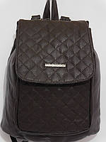 Рюкзак кож.зам кубики темный шоколад, фото 1