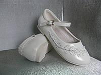 Туфли  на девочку белые 23р Tom.m.