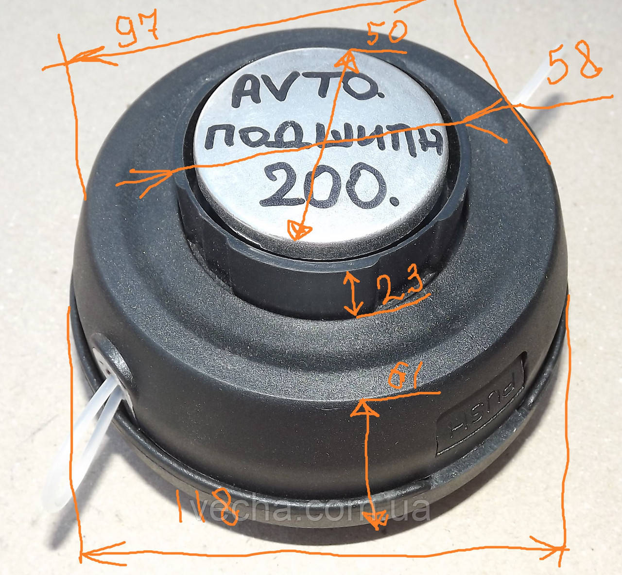 Катушка для триммера  (метал. нос подшипник)  , фото 1