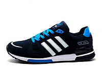 Кроссовки Adidas ZX750, мужские, темно-синие с голубым, фото 1
