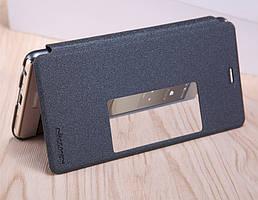 Кожаный чехол (книжка) Nillkin Sparkle Series для Huawei P9 Plus             Черный