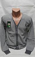 Кардиган серый подростковый на мальчиков 128,140 роста Шерсть