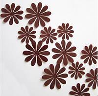Цветы коричневые (маленькие)