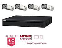 Комплект HD видеонаблюдения Dahua уличный
