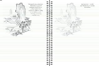 Sketchbook Скетчбук УКР Малюємо пейзаж [2] коричнева палітурка, фото 3