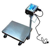 Складская тележка с весами IP68 ТВ1-300-100-R(600х700)-N-12ha