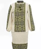 Нарядный вышитый костюм из 100% льна