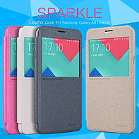 Кожаный чехол (книжка) Nillkin Sparkle Series для Samsung A9000 Galaxy A9 (2016)             Черный
