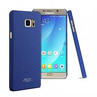 Пластиковая накладка IMAK Cowboy series для Samsung Galaxy Note 5             Синий