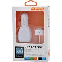 Автомобильное зарядное для телефона Henca iPad 2/3/4 + USB 2100mA (CC24-IPA3)