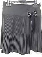 Юбка плиссированная черная школьная. Польша. Рост 122, 128,
