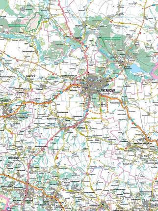 Авто 1:250 000 Луганська обл Карта автошляхів Авто Луганська, фото 2